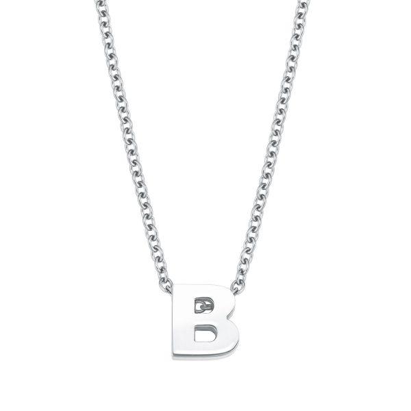 Amor Damen Kette mit Buchstaben Anhänger A-Z Silber