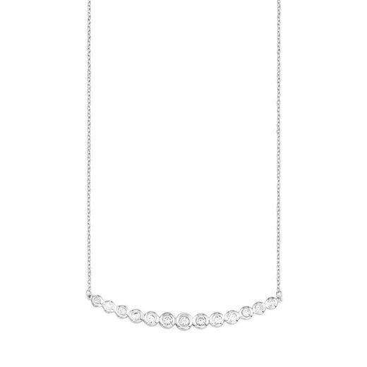 s.Oliver Damen Kette mit Zirkonia aus 925 Sterling Silber