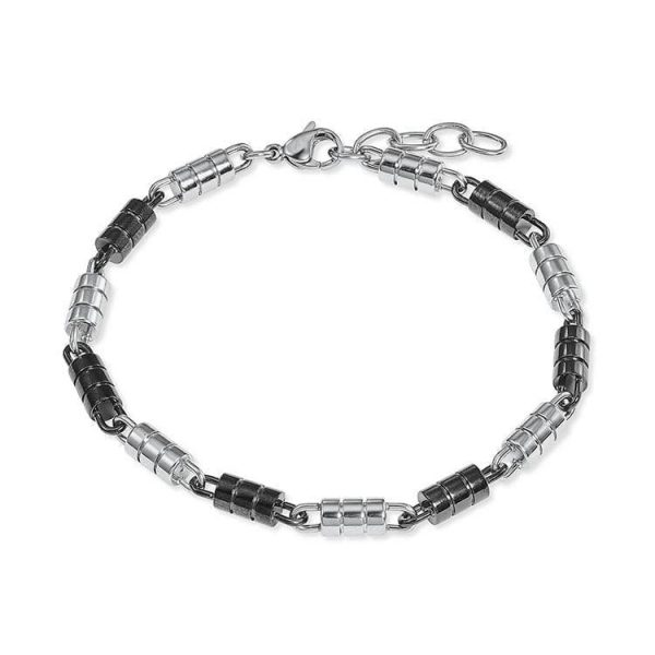 s.oliver Armband schwarz weiß